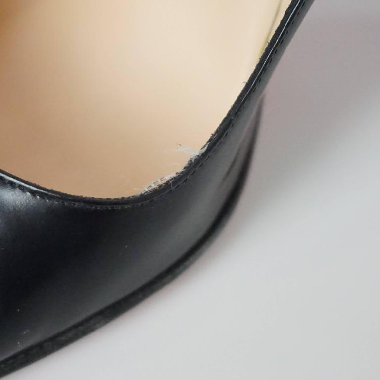 Christian Louboutin Black Leather Pumps - 39 For Sale 1