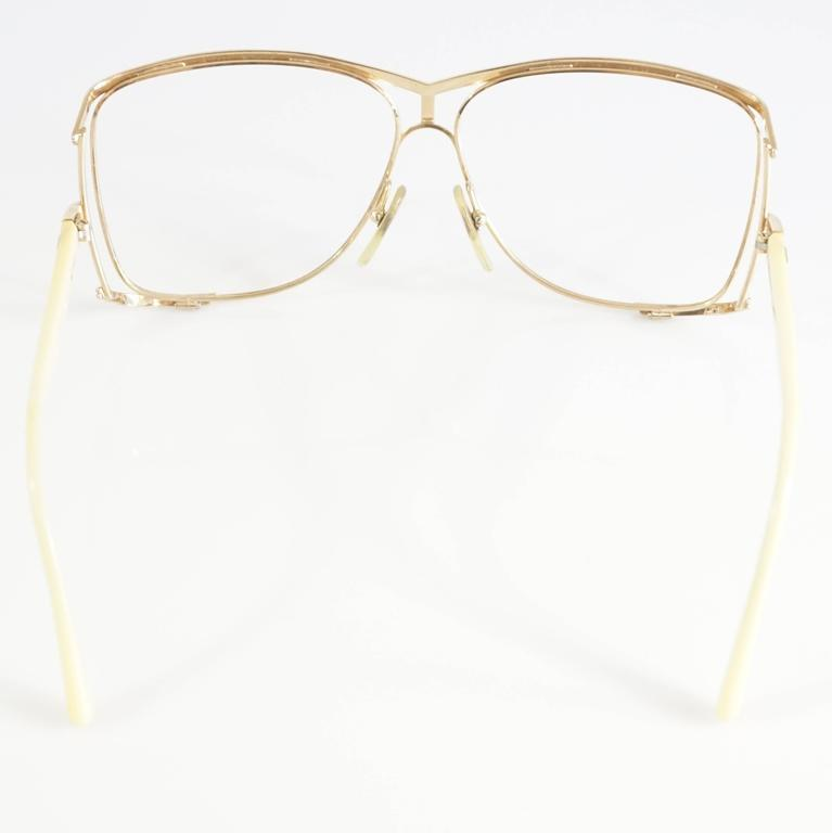 Christian Dior Gold Thin Frames - 1970's 3