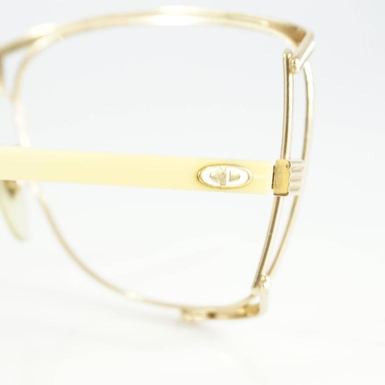 Christian Dior Gold Thin Frames - 1970's 4