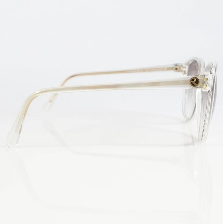 Rochas White Mother of Pearl Cateye Sunglasses - 1970's 3
