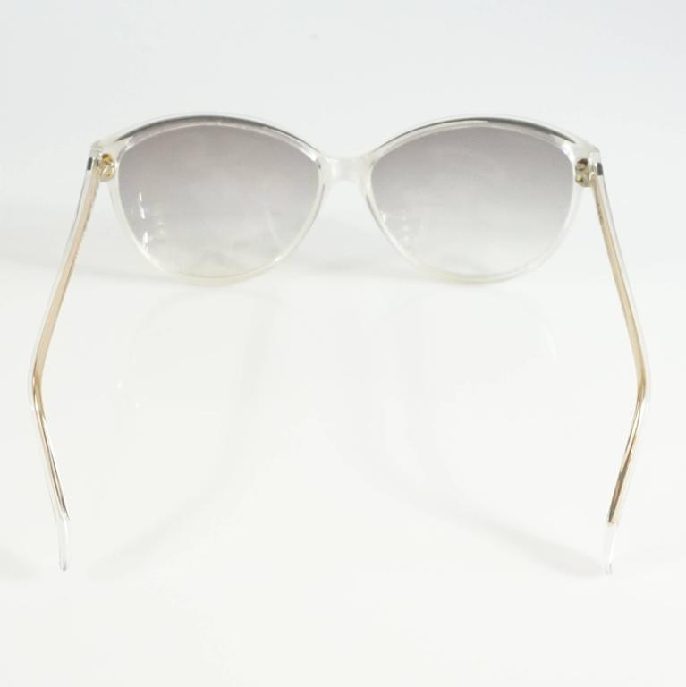 Rochas White Mother of Pearl Cateye Sunglasses - 1970's 4
