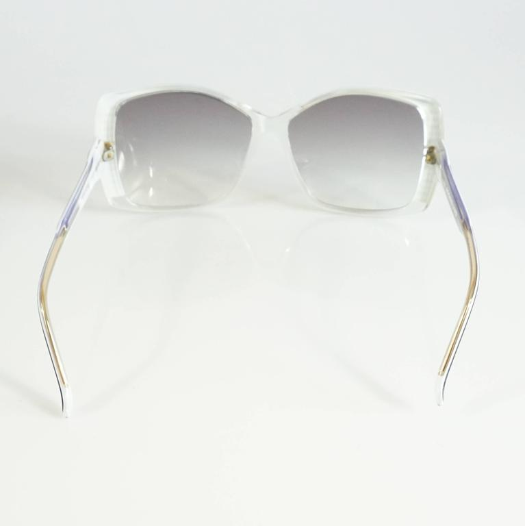 Rochas Black and White Lucite Square Sunglasses - 1970's  4