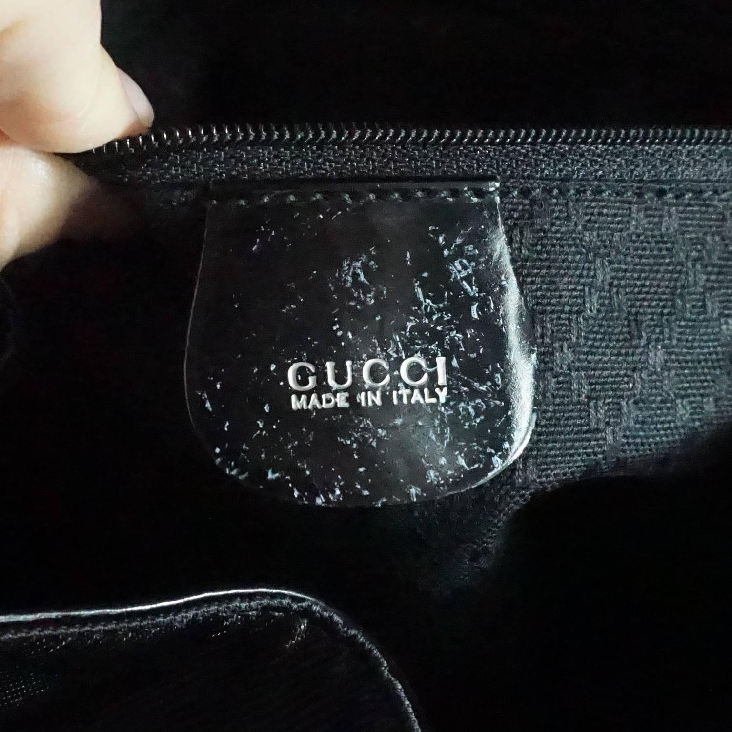 Gucci Black Fabric And Leather Backpack With Bamboo Detail For Sale At 1stdibs
