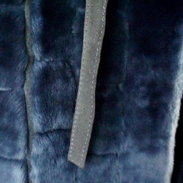Christian Dior Vintage Blue Faux Fur Coat - L - 1990's  For Sale 1