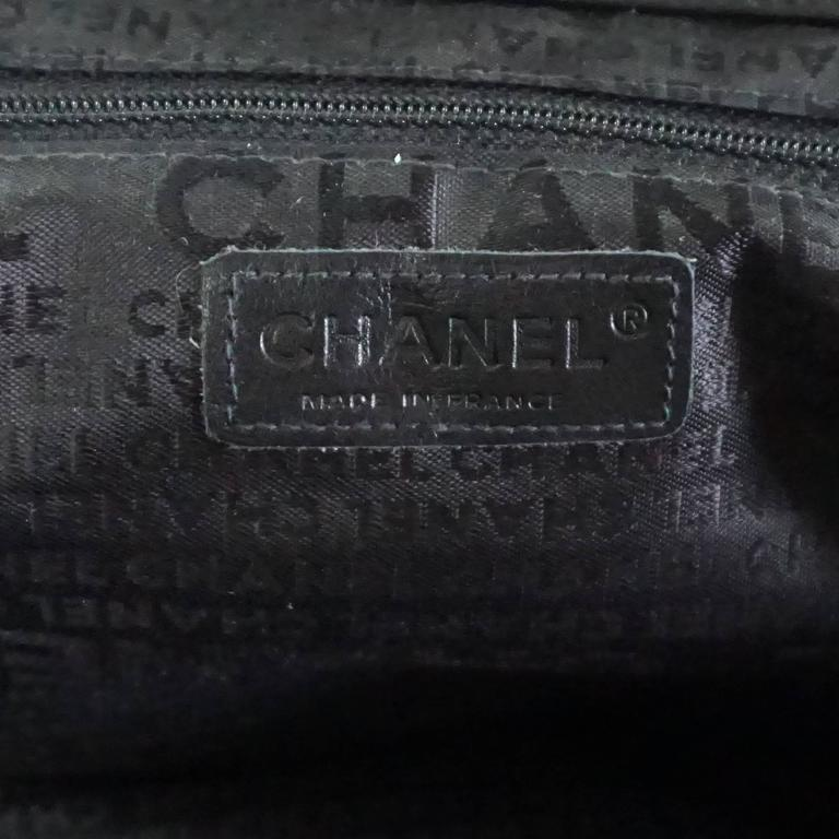 Chanel Black Lambskin Top Handle Bag with Camellia - 2003 8