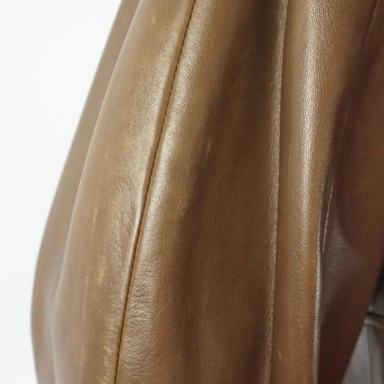 Jean Claude Jitrois Brown Leather Long Sleeve Dress - 6 -  circa 1980's  7