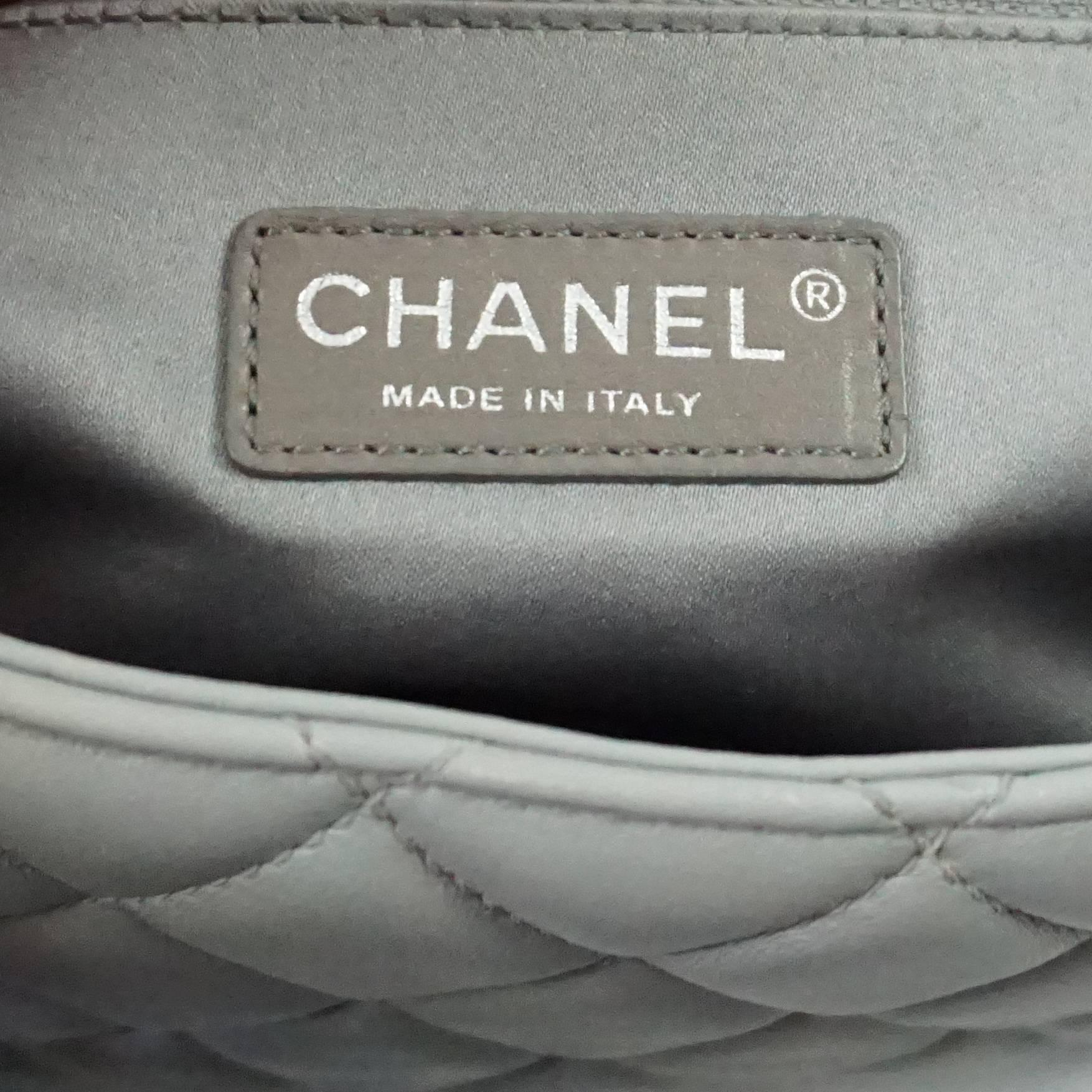 474273494ee1 Chanel Light Grey Quilted Lambskin Rain Coat Shanghai Paris Bag - SHW -  2009 at 1stdibs