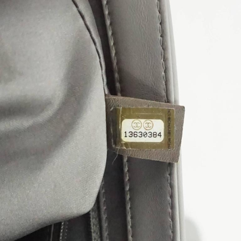 69c4752bc12c Chanel Light Grey Quilted Lambskin Rain Coat Shanghai Paris Bag - SHW -  2009 For Sale