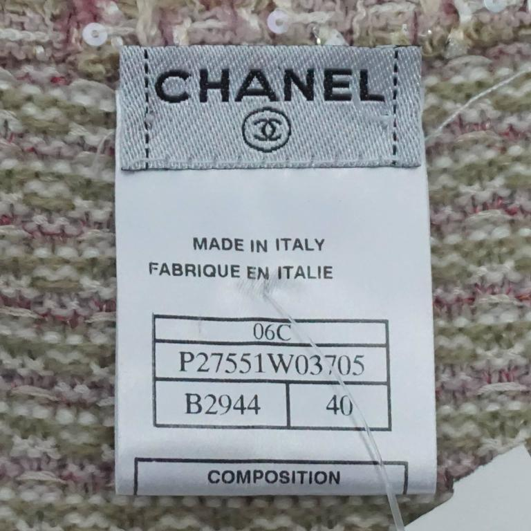 Chanel Tan, Ivory, and Rose Cashmere Blend Full Sweater Coat - 40  7