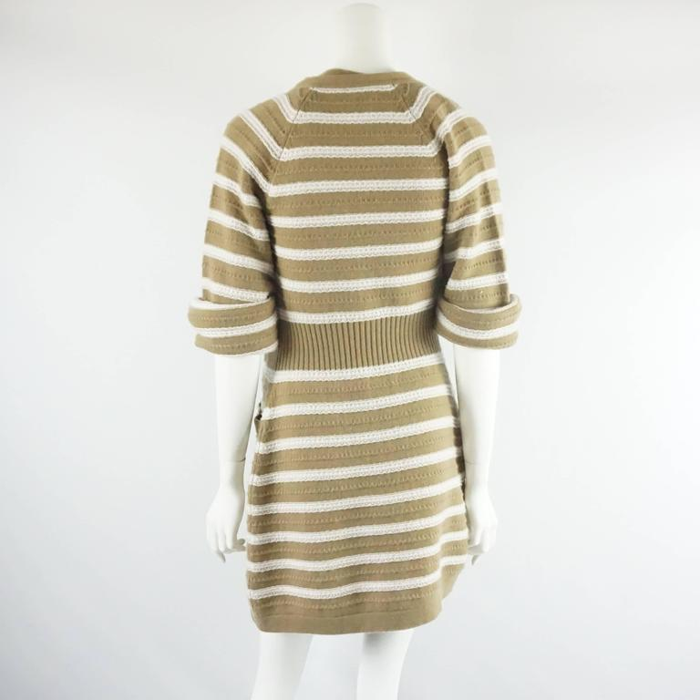 Chanel Runway Camel and Ivory Cashmere Sweater Dress with Top - 34 - 2015 In Excellent Condition For Sale In Palm Beach, FL