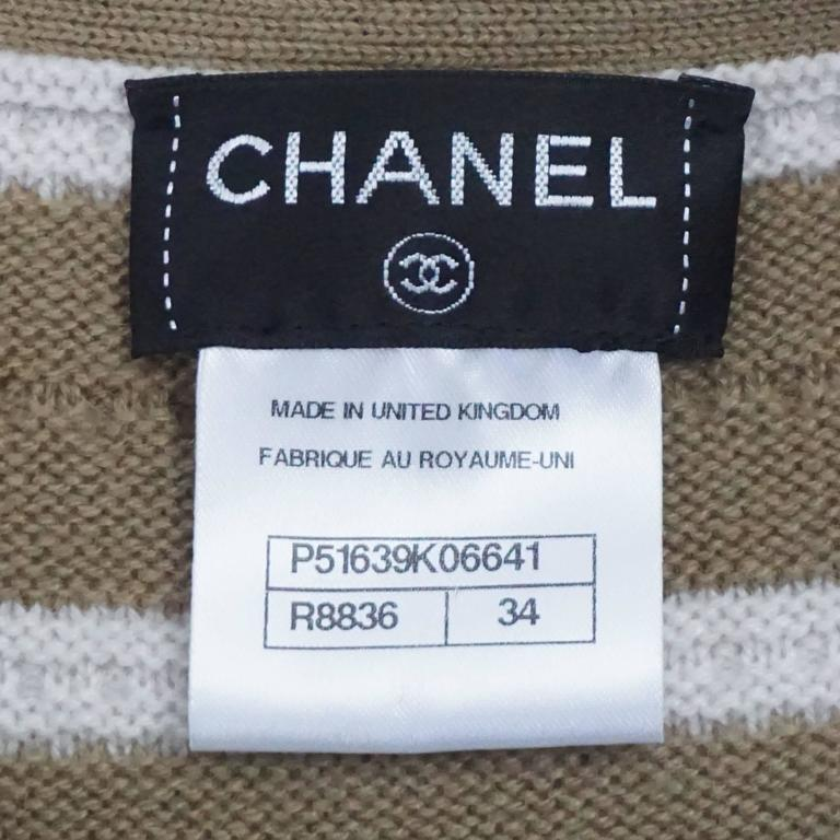 Chanel Runway Camel and Ivory Cashmere Sweater Dress with Top - 34 - 2015 For Sale 2