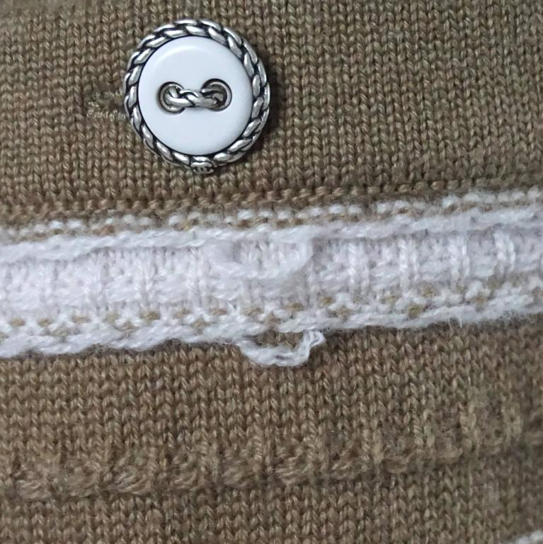 Chanel Runway Camel and Ivory Cashmere Sweater Dress with Top - 34 - 2015 For Sale 3