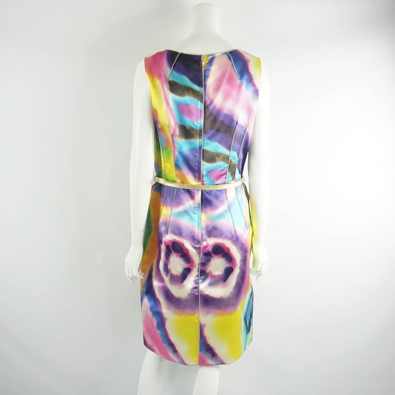 Dolce & Gabbana Multi Silk Tie Dye Print Dress with Pockets - 44 3