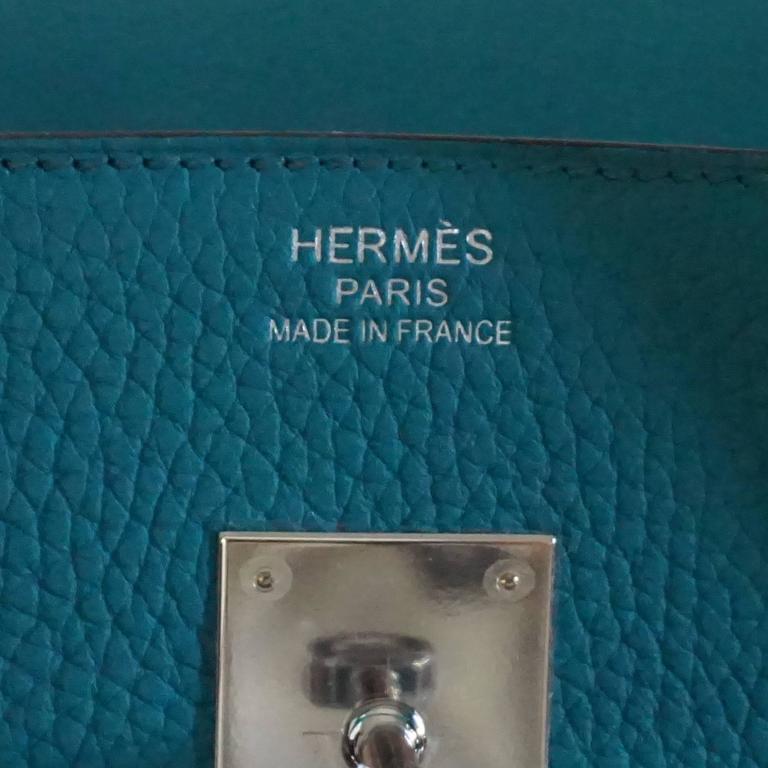 Hermes Blue Paon 35cm Clemence Birkin - SHW - 2016 6