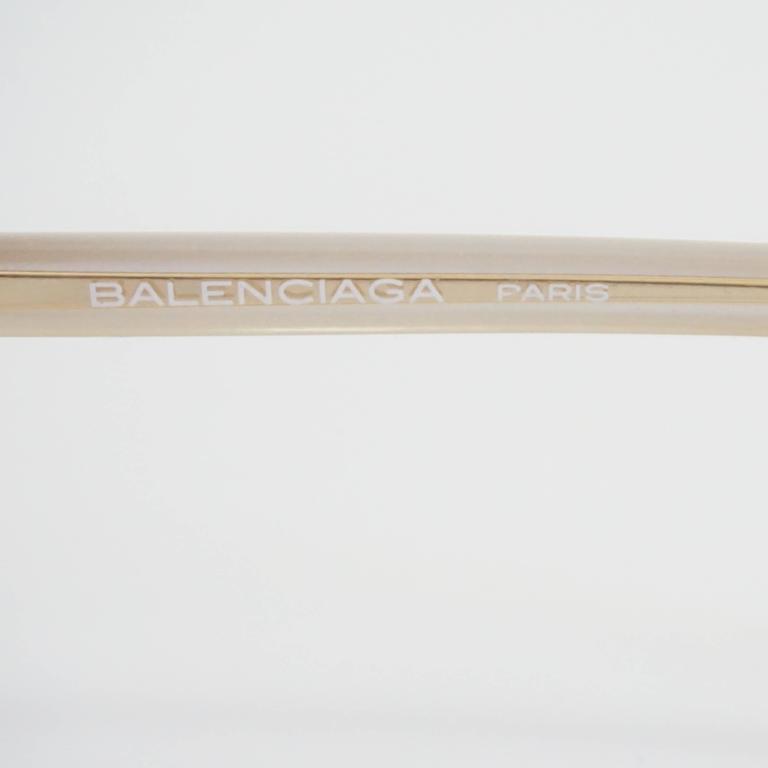 Balenciaga Black and White Diamond Shape Lucite Sunglasses - 1980's  5