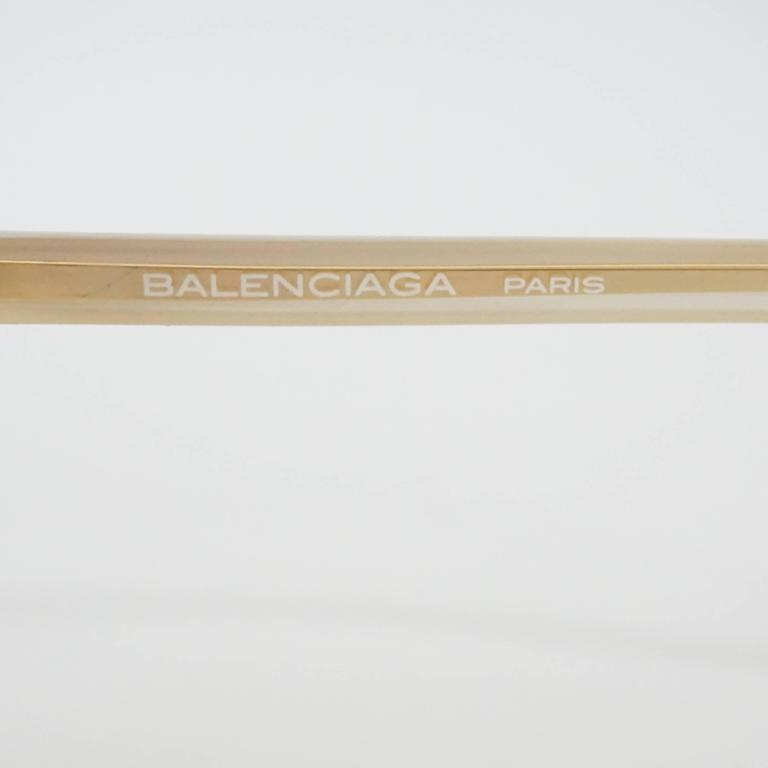 Women's Balenciaga Red and White Diamond Shape Lucite Sunglasses For Sale