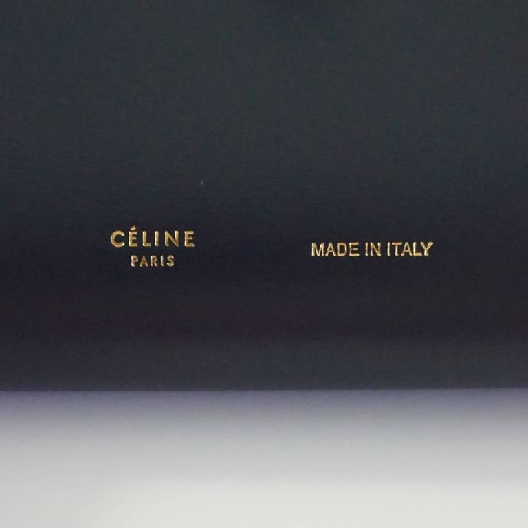Women's Celine Navy and Ivory Oversize Wallet  For Sale