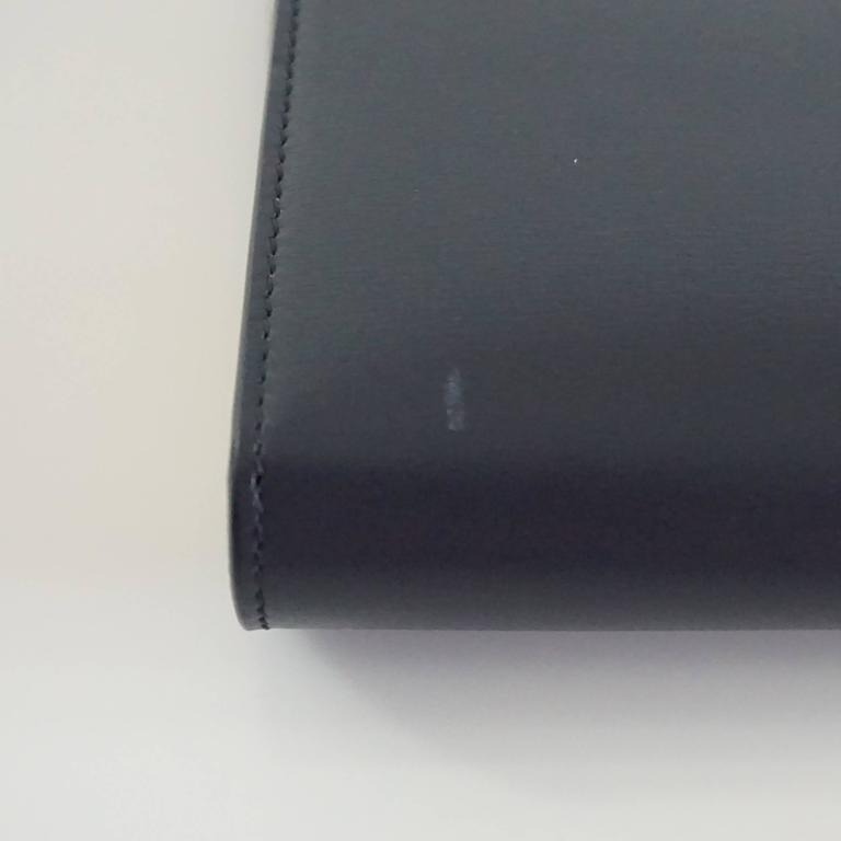 Celine Navy and Ivory Oversize Wallet  For Sale 2