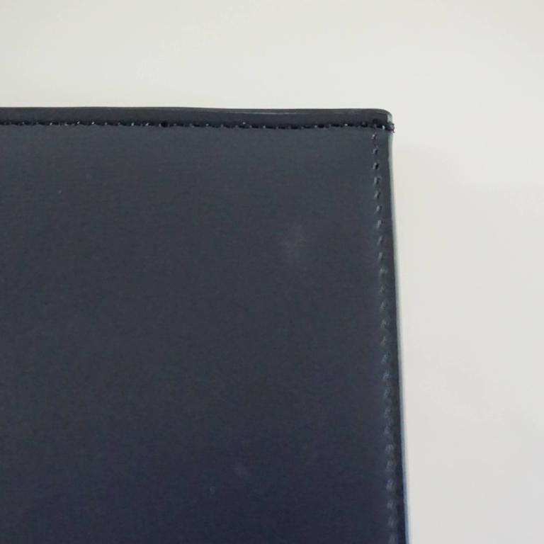 Celine Navy and Ivory Oversize Wallet  For Sale 3