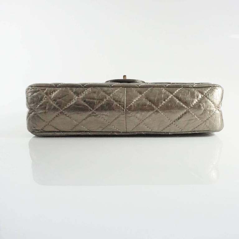 Chanel Pewter 2.55 Reissue 227 Double Flap Bag - 2006  In Excellent Condition For Sale In Palm Beach, FL