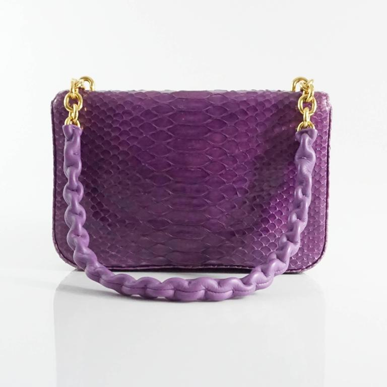 Tom Ford Purple Python Carine Shouder Bag  3