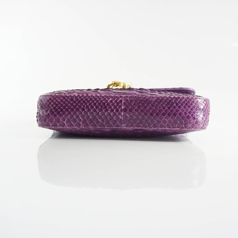 Tom Ford Purple Python Carine Shouder Bag  4