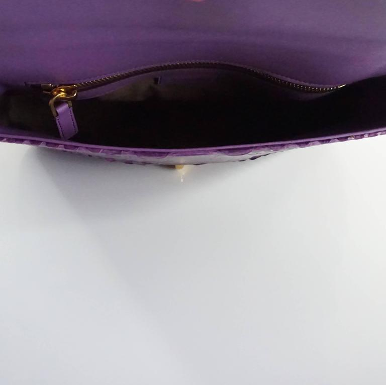 Tom Ford Purple Python Carine Shouder Bag  5