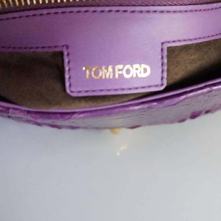 Tom Ford Purple Python Carine Shouder Bag  6