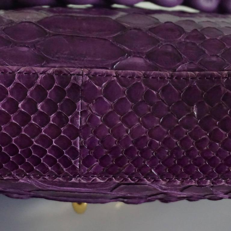 Tom Ford Purple Python Carine Shouder Bag  8