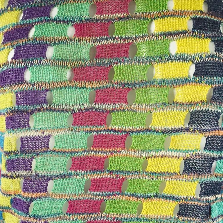 Women's Missoni Multi Cotton Knit Vintage Sweater Set - M For Sale