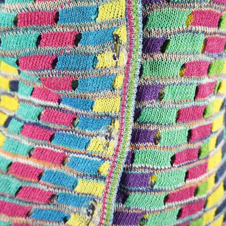 Missoni Multi Cotton Knit Vintage Sweater Set - M For Sale 1