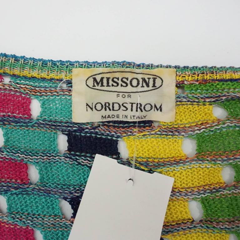 Missoni Multi Cotton Knit Vintage Sweater Set - M For Sale 2