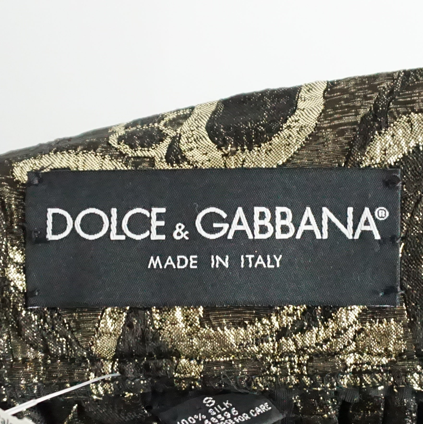 35a8b89f4cc Dolce and Gabbana Gold and Bronze Silk Brocade Maxi Skirt - S For Sale at  1stdibs