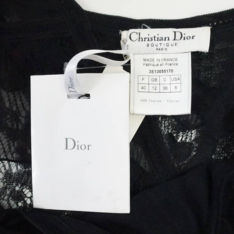 Women's Christian Dior Black Camisole Top - M - NWT For Sale