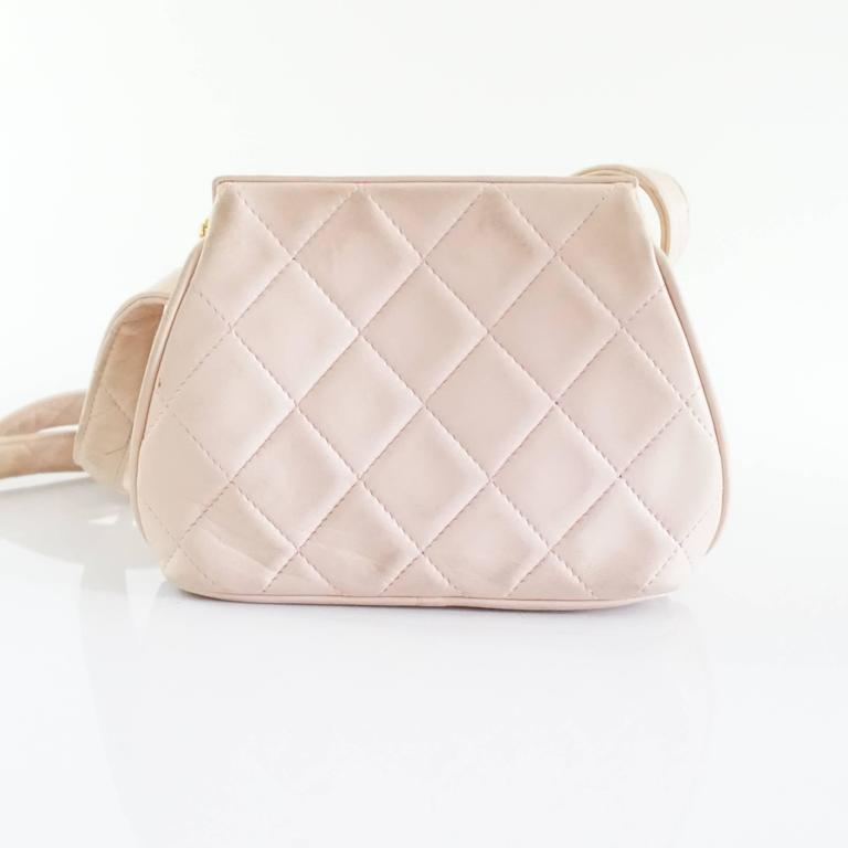 Chanel Pink Leather Frame Crossbody Bag - circa late 80's 3