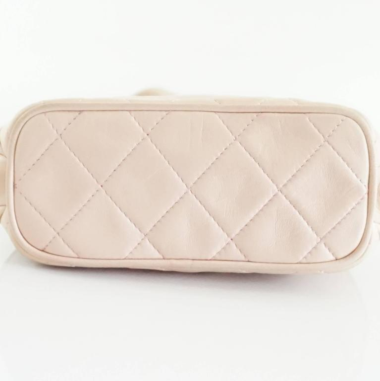 Chanel Pink Leather Frame Crossbody Bag - circa late 80's 4