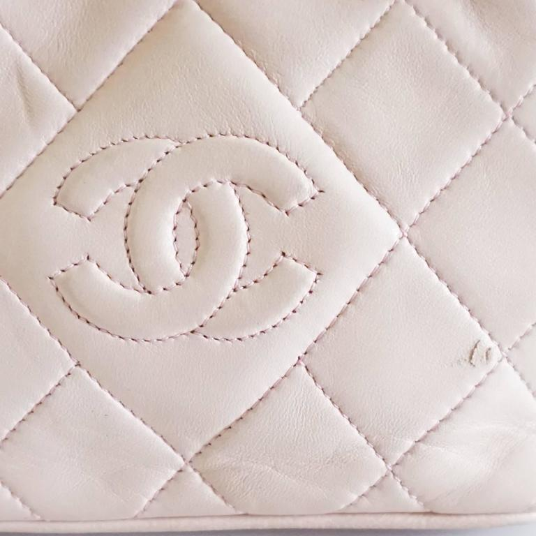 Chanel Pink Leather Frame Crossbody Bag - circa late 80's 5