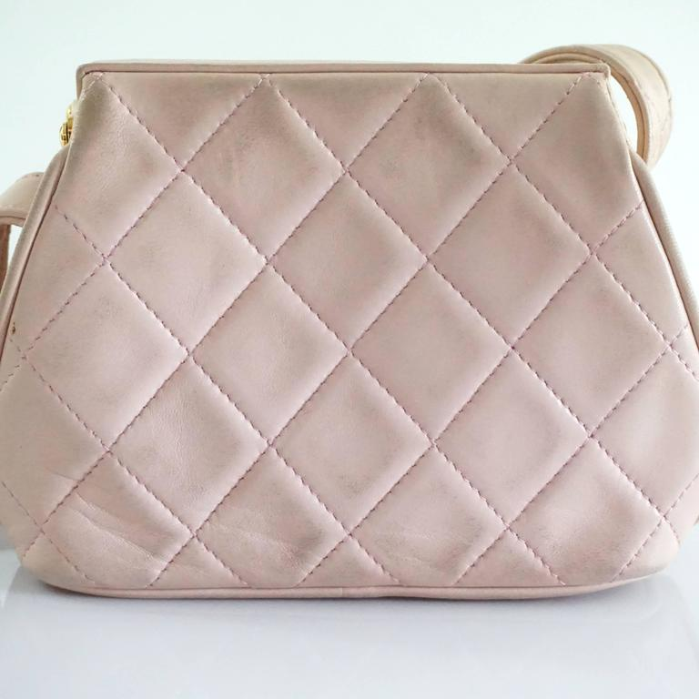 Chanel Pink Leather Frame Crossbody Bag - circa late 80's 7