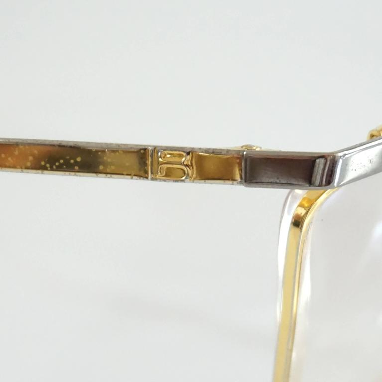 Laura Biagiotti Gold and Silver Large Glasses For Sale 1