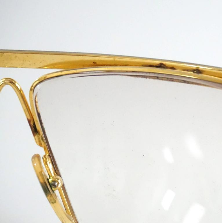 Laura Biagiotti Gold and Silver Large Glasses For Sale 4