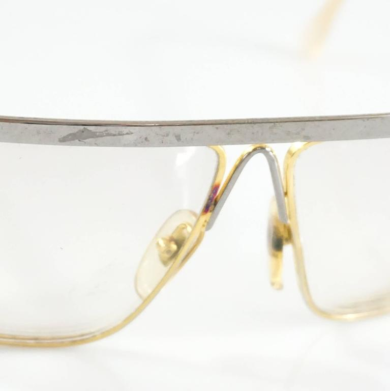 Laura Biagiotti Gold and Silver Large Glasses For Sale 5
