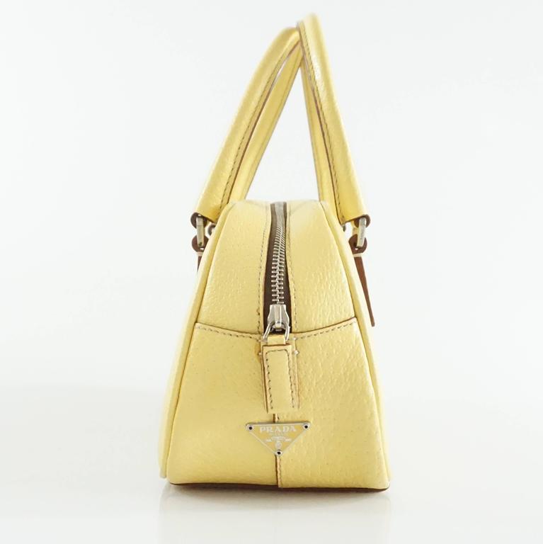 Prada Yellow Leather Mini Bag  2