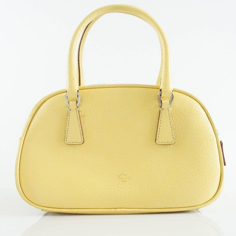 Prada Yellow Leather Mini Bag  3
