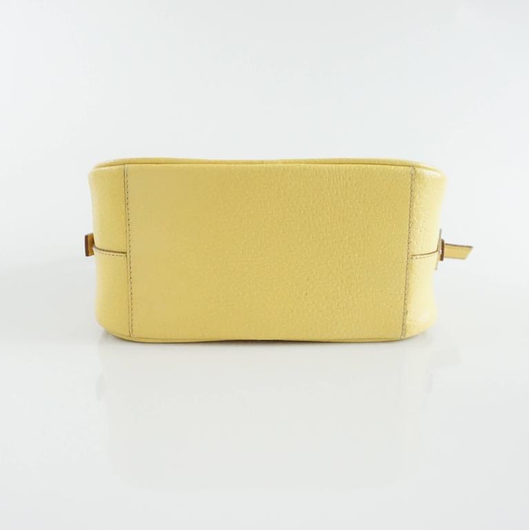 Prada Yellow Leather Mini Bag  4