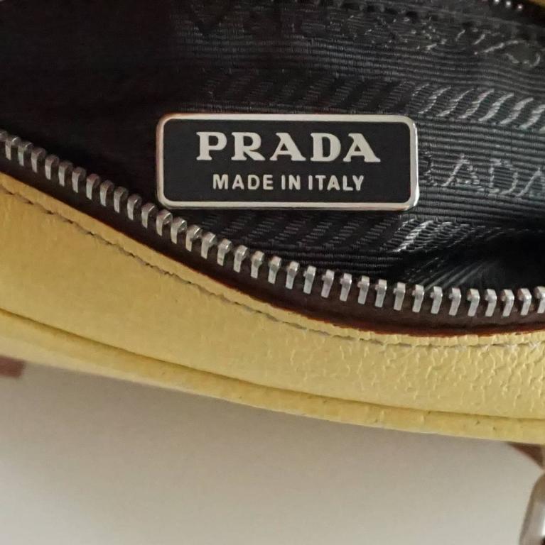 Prada Yellow Leather Mini Bag  5