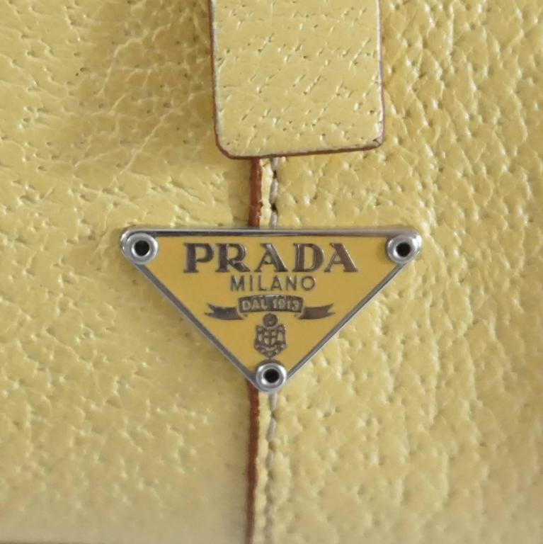 Prada Yellow Leather Mini Bag  6