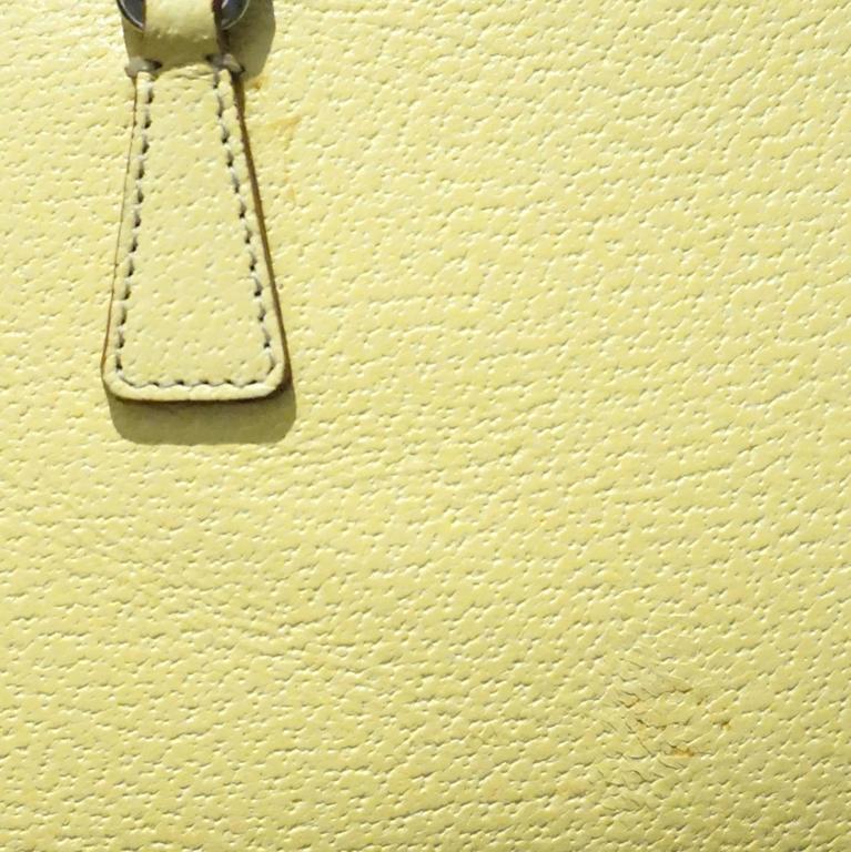 Prada Yellow Leather Mini Bag  7