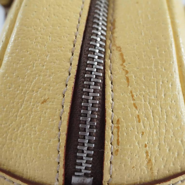 Prada Yellow Leather Mini Bag  9
