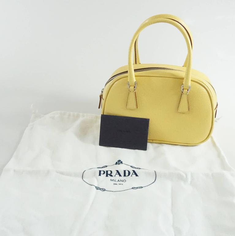 Prada Yellow Leather Mini Bag  10