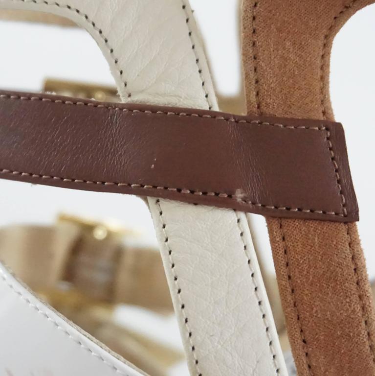 Jimmy Choo Earthtones Strappy Bootie Sandal, Size 38.5 For Sale 3